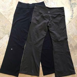 Lululemon side leg bundle black & brown 10 Reg